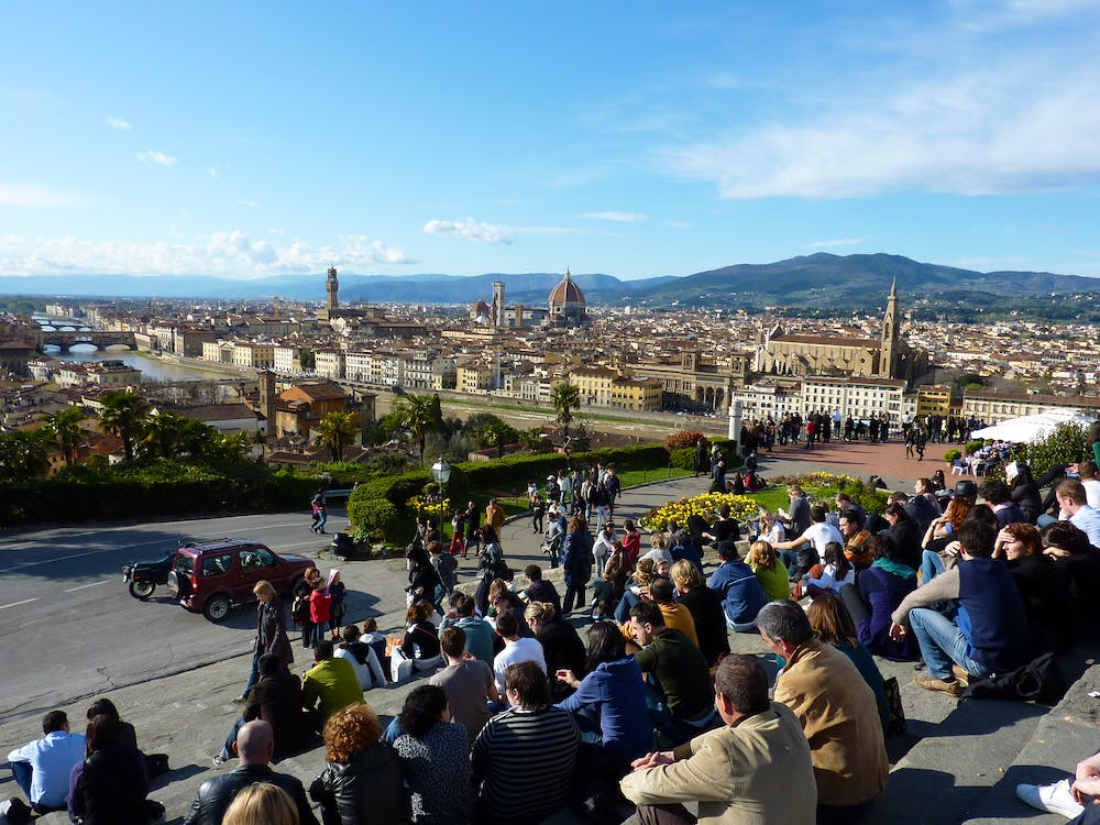 Panoramic View From Piazzale Michelangelo Florence Italy