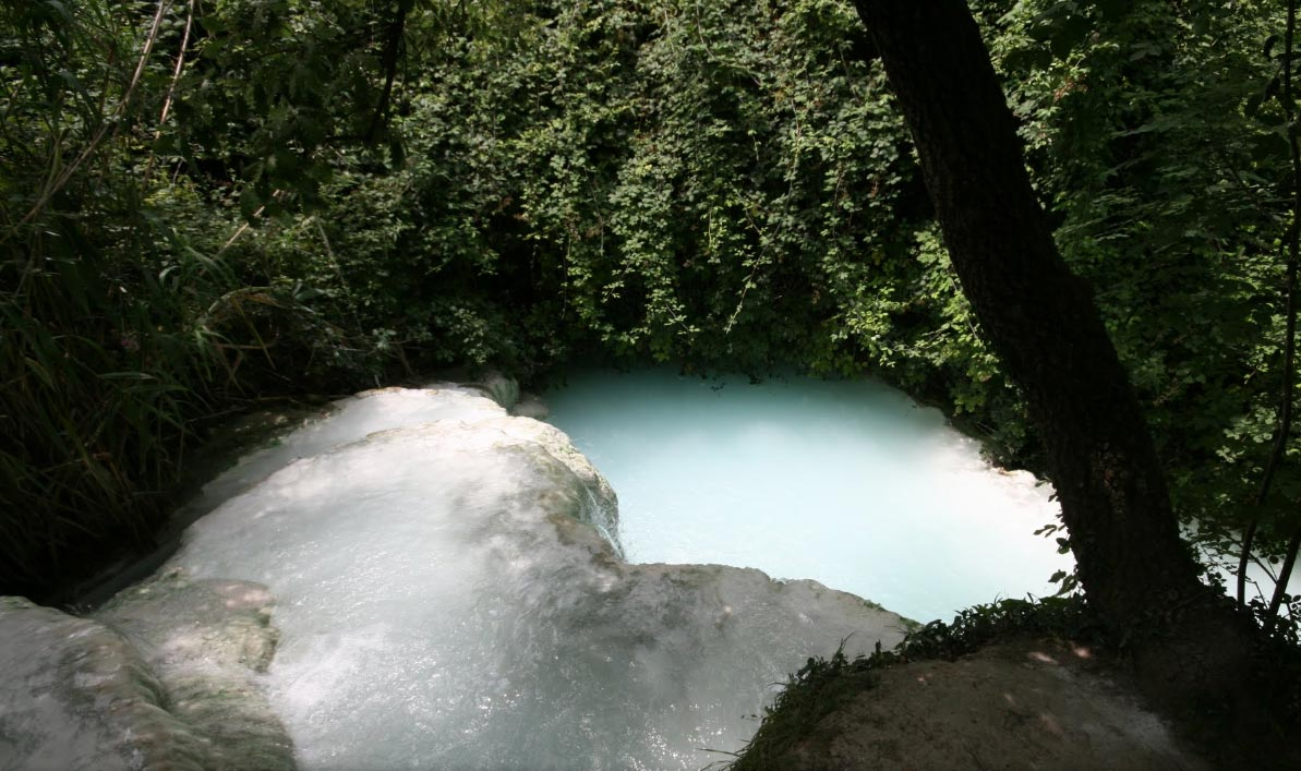 Noleggio e bike escursione bagni san filippo con bagno al fosso